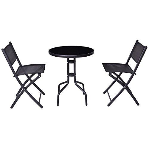 3-Pcs-Bistro-Set-Garden-Backyard-Table-Folding-Chairs-Outdoor-Patio-Furniture-0-2