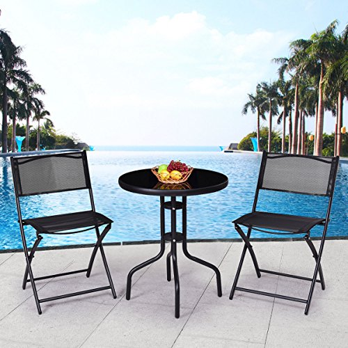 3-Pcs-Bistro-Set-Garden-Backyard-Table-Folding-Chairs-Outdoor-Patio-Furniture-0