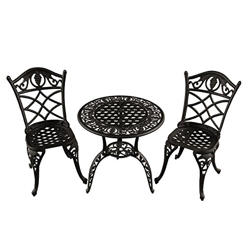 3-Piece-Jet-Black-Ornate-Grape-Vineyard-Aluminum-Outdoor-Patio-Bistro-Chat-Set-0