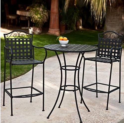 3-Piece-Outdoor-Bistro-Set-Bar-Height-Black-This-Traditional-Patio-Furniture-is-Stylish-and-Comfortable-Bistro-Sets-Compliment-Your-Patio-Deck-Or-Pool-Area-Perfectly-Patio-Furniture-Sets-Of-This-Quali-0