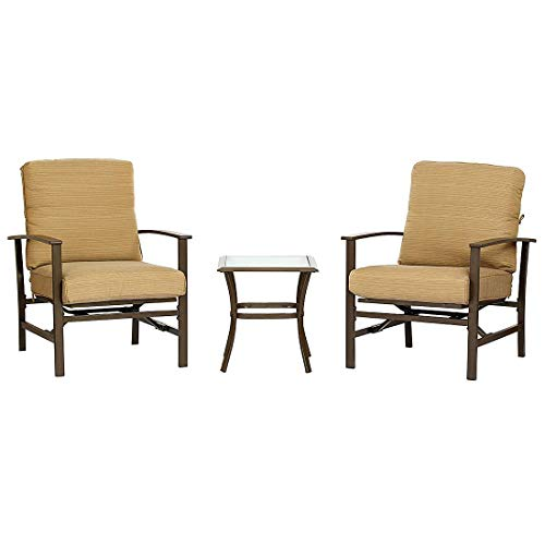 3-Piece-Patio-Outdoor-Bistro-Set-Furniture-Two-Cushioned-Chairs-Glass-Coffee-Table-0-0