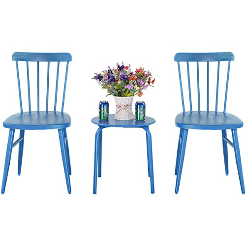 3-pcs-Bistro-Steel-Table-and-Chair-Blue-0-0