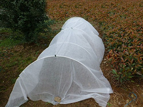 30FT-Long-Agfabric-Hoop-House-Kit-Mini-Greenhouse-Grow-Tunnel-09oz-Floating-Row-Cover-with-Tunnel-HoopsPlant-Cover-Frost-Blanket-for-Season-Extension-and-Seed-Germination-0-0