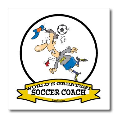 3dRose-ht1035672-Funny-Worlds-Greatest-Soccer-Coach-Occupation-Job-Cartoon-Iron-on-Heat-Transfer-for-White-Material-6-by-6-Inch-0