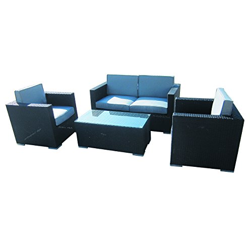 4-Piece-Cushioned-Outdoor-Rattan-Wicker-Love-Seat-2-chair-Coffee-Table-Patio-Furniture-Set-Black-with-Grey-Cushions-No-Assembly-Required-0-1