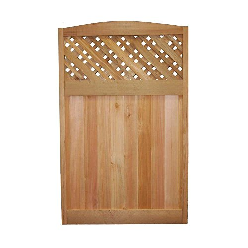 4-ft-x-25-ft-Western-Red-Cedar-Supreme-Lattice-Deluxe-Arched-Fence-Panel-0