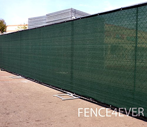 4-x-50-3rd-Gen-Olive-Dark-Green-Fence-Privacy-Screen-Windscreen-Fabric-Mesh-Tarp-Aluminum-Grommets-0-0