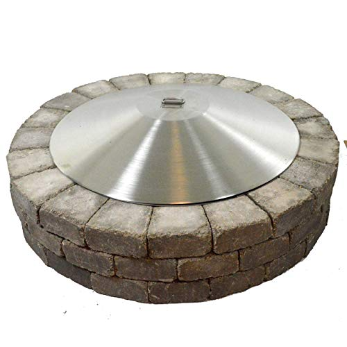 40″ Round Stainless Steel Dome Fire Pit Cover | Green Lawn ...
