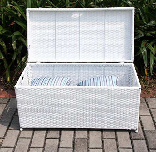 40-White-Resin-Wicker-Outdoor-Patio-Garden-Hinged-Lidded-Storage-Deck-Box-0-1