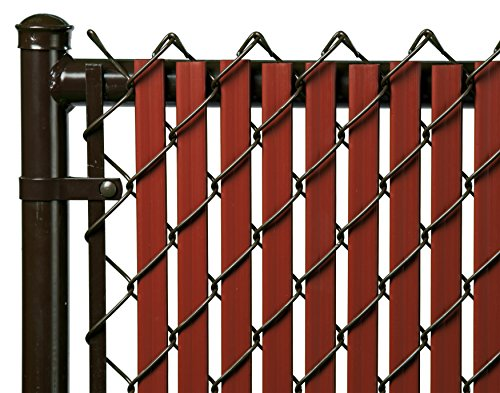 6ft Redwood Tube Slats For Chain Link Fence Green Lawn
