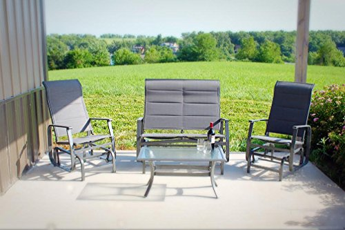 4pc-Rust-Proof-Glider-Outdoor-Patio-Conversation-Deep-Seating-Furniture-Set-0