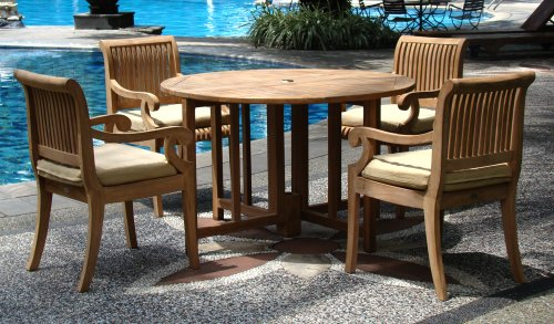 5-Pc-Grade-A-Teak-Wood-Dining-Set-48-Round-Butterfly-Folding-Table-And-4-Giva-Captain-Arm-Chairs-WHDSGV2-0-1