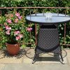 5-Pc-Patio-Resin-Outdoor-Wicker-Dining-Set-Round-Table-wGlass4-Arm-Chair-Black-Color-0-0