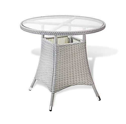 5-Pc-Patio-Resin-Outdoor-Wicker-Dining-Set-Round-Table-wGlass4-Arm-Chair-Gray-Color-0-0