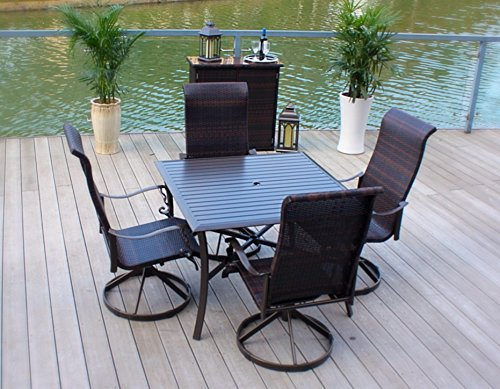 5pc-Cast-Aluminum-Swivel-Rocking-Wicker-Patio-Furniture-Dining-Set-with-Slat-Top-Table-Bronze-0