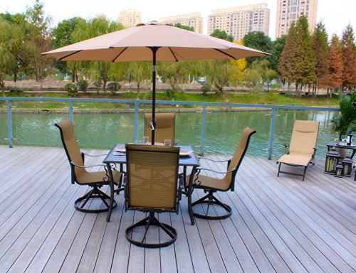 5pc-Outdoor-Sling-Swivel-Rocking-Patio-Dining-Set-with-Umbrella-Seats-4-0