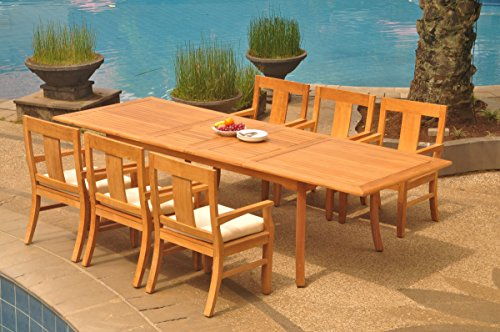 6-Seats-7-Pcs-Grade-A-Teak-Wood-Dining-Set-118-Double-Extension-Rectangle-Table-And-6-Osborne-Arm-Chairs-WHDSOS80-0-2
