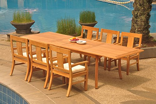 6-Seats-7-Pcs-Grade-A-Teak-Wood-Dining-Set-118-Double-Extension-Rectangle-Table-And-6-Osborne-Arm-Chairs-WHDSOS80-0