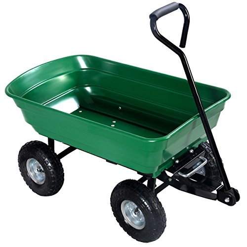 650LB-Garden-Dump-Cart-Dumper-Wagon-Carrier-Wheel-Barrow-0