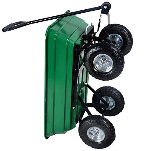 650LB-Garden-Dump-Cart-Dumper-Wagon-Carrier-Wheel-Barrow-Air-Tires-Heavy-Duty-0-0