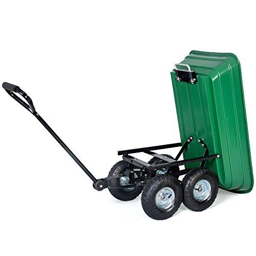 650LB-Garden-Dump-Cart-Dumper-Wagon-Carrier-Wheel-Barrow-Air-Tires-Heavy-Duty-0-11