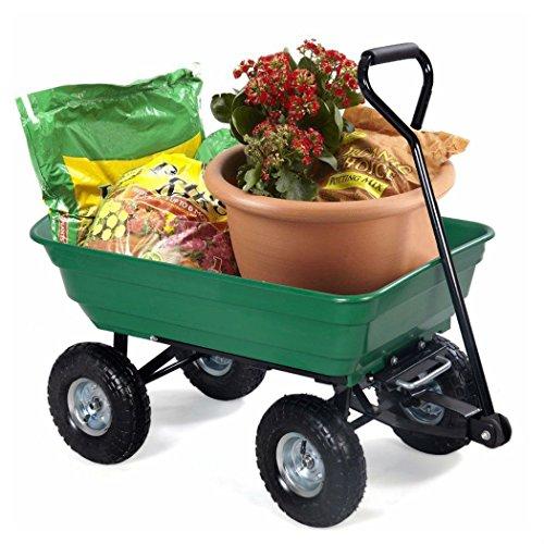 650LB-Garden-Dump-Cart-Dumper-Wagon-Carrier-Wheel-Barrow-Air-Tires-Heavy-Duty-0-7