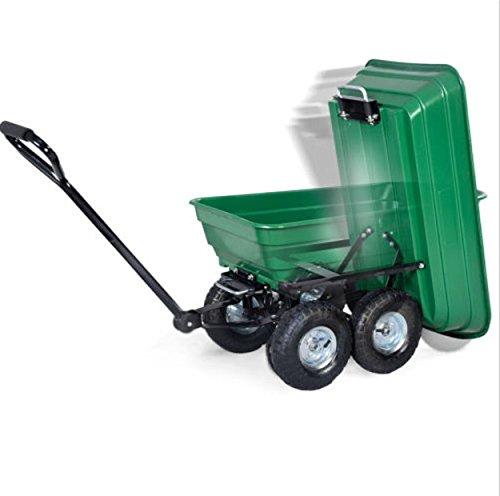650LB-Green-Garden-Cart-Dump-Wagon-Trailer-Lawn-Wheels-Rolling-Storage-Wagon-Carrier-Barrow-Air-Tires-Heavy-Duty-0