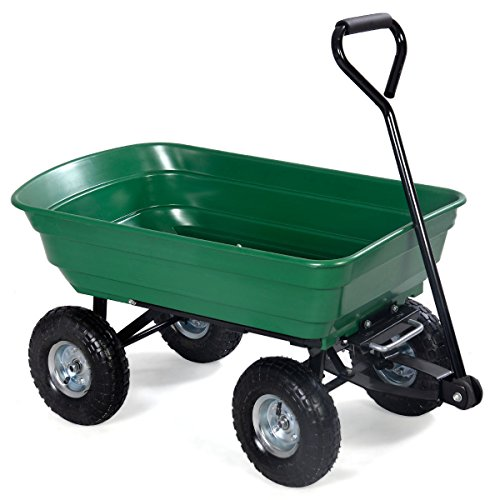 650LB-Heavy-Duty-Garden-Dump-Carrier-Cart-with-Wheel-Barrow-Air-Tires-0