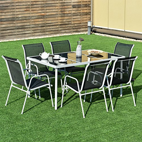 7-PCS-Steel-Table-Chairs-Dining-Set-Patio-Glass-Table-Top-Outdoor-Furniture-Allblessings-0-0
