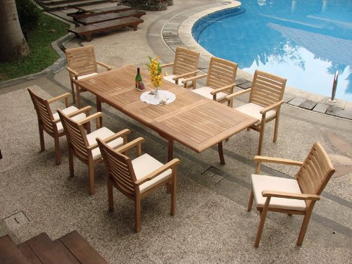 7-Pc-Grade-A-Teak-Wood-Dining-Set-94-Rectangle-Table-and-6-Hari-Stacking-Arm-Chairs-WFDSHR5-0