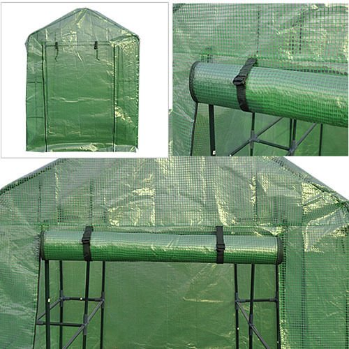 8-Shelves-Greenhouse-Portable-Mini-Walk-In-Outdoor-Green-House-2-Tier-New-0-0
