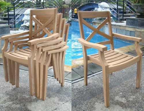 9-Pc-Grade-A-Teak-Wood-Dining-Set-117-Rectangle-Table-And-8-Granada-Stacking-Arm-Chairs-WFDSGR3-0-1