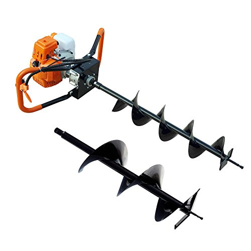9TRADING-22-HP-Gas-Powered-Post-Hole-Digger-with-2-Auger-Bits-6-10-52CC-Power-EngineFree-TaxDelivered-Within-10-Days-0-0
