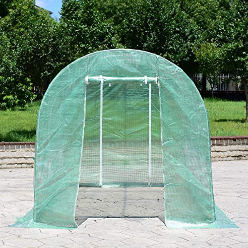 AK-Energy-115x65x65-Walk-in-Greenhouse-Steel-Frame-Backyard-Grow-Tents-6-Windows-Zippered-Door-0-2