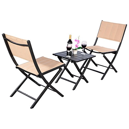 AK-Energy-3pc-Portable-Patio-Lawn-Outdoor-Square-Folding-Coffee-Table-Chairs-Furniture-Set-Earth-Yellow-Color-0-0