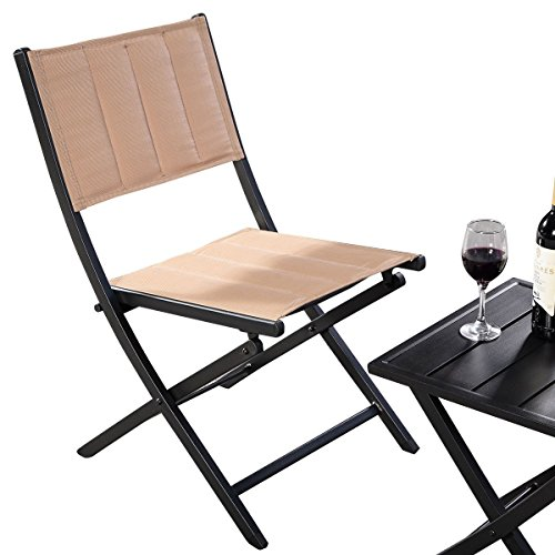 AK-Energy-3pc-Portable-Patio-Lawn-Outdoor-Square-Folding-Coffee-Table-Chairs-Furniture-Set-Earth-Yellow-Color-0-2