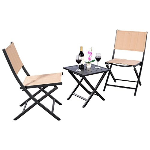 AK-Energy-3pc-Portable-Patio-Lawn-Outdoor-Square-Folding-Coffee-Table-Chairs-Furniture-Set-Earth-Yellow-Color-0