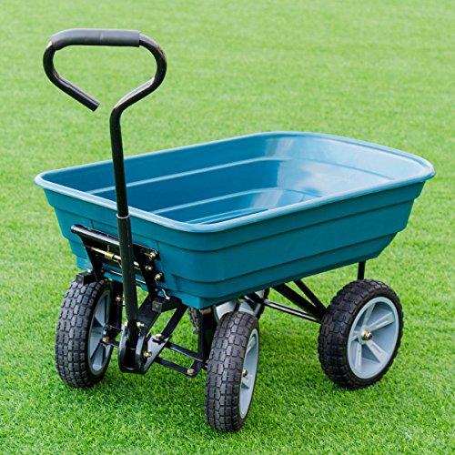 AK-Energy-4-Wheel-Tire-Utility-Garden-Yard-Dump-Cart-Wagon-Carrier-Wheelbarrow-10-PU-Caster-0-0