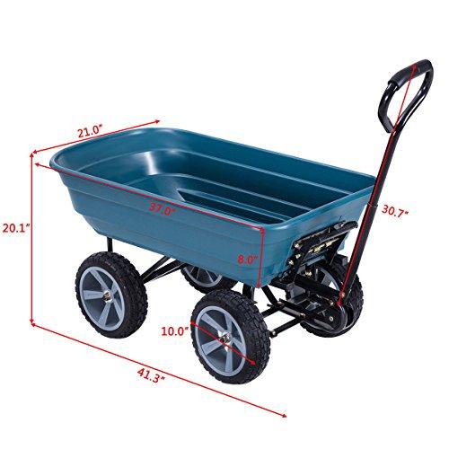 AK-Energy-4-Wheel-Tire-Utility-Garden-Yard-Dump-Cart-Wagon-Carrier-Wheelbarrow-10-PU-Caster-0-2