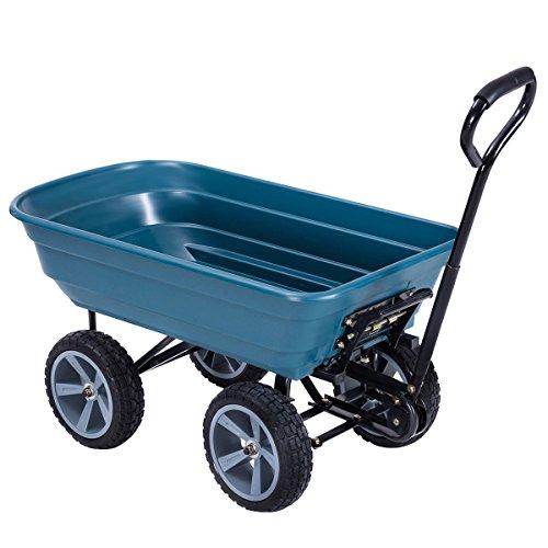 AK-Energy-4-Wheel-Tire-Utility-Garden-Yard-Dump-Cart-Wagon-Carrier-Wheelbarrow-10-PU-Caster-0