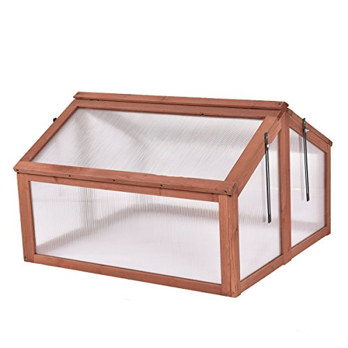 AK-Energy-Double-Box-Garden-Wooden-Green-House-Cold-Frame-Raised-Plants-Bed-Protection-Adjutable-Hinge-0