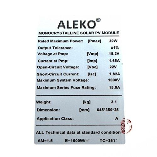 ALEKO-SPU30W12V-30-Watt-12-Volt-Monocrystalline-Solar-Panel-for-Gate-Opener-Pool-Garden-Driveway-0-1