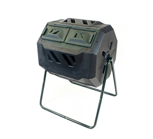 AMGS-Dual-Compost-Bin-Two-Leg-Stand-Large-Tumbler-Outdoor-Garden-Tool-40-Gallon-Capacity-Green-e-book-by-Amglobalsupplies-0