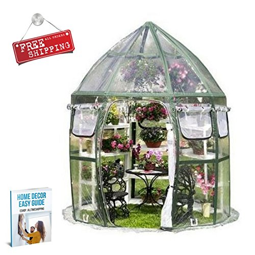 ATS-Portable-Greenhouse-Patio-Small-Greenhouse-Shelving-Sheeting-Pannels-Garden-Flowerhouse-Backyard-Outdoor-Home-eBook-by-AllTim3Shopping-0