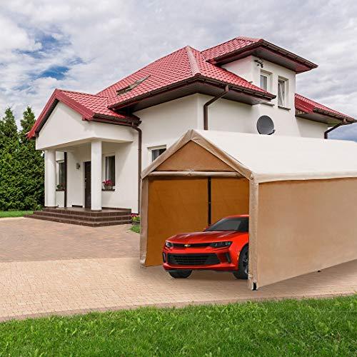 Abba-Patio-10-x-20-Feet-Heavy-Duty-Carport-Car-Canopy-Shelter-with-Windows-and-Sidewalls-0-0