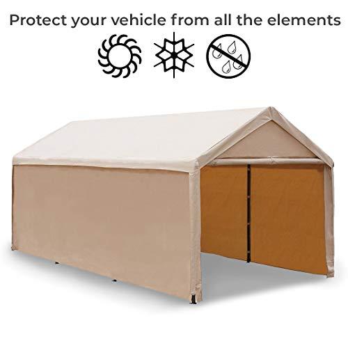 Abba-Patio-10-x-20-Feet-Heavy-Duty-Carport-Car-Canopy-Shelter-with-Windows-and-Sidewalls-0-2