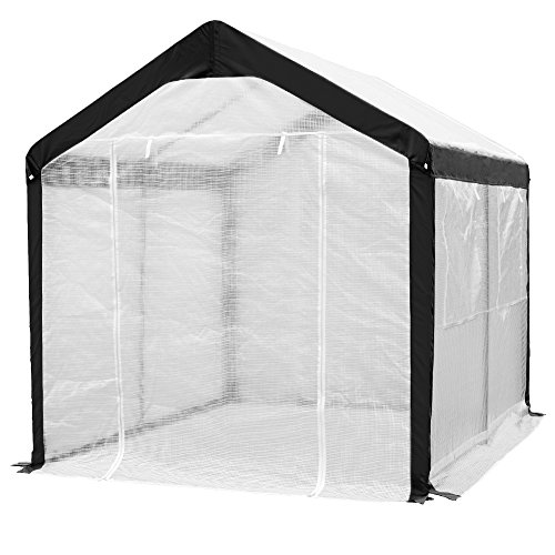 Abba-Patio-Cover-Canopy-Replacement-for-8-x-10-Feet-Large-Walk-in-Greenhouse-White-Frame-not-Include-0-0
