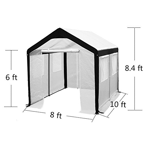 Abba-Patio-Cover-Canopy-Replacement-for-8-x-10-Feet-Large-Walk-in-Greenhouse-White-Frame-not-Include-0-1