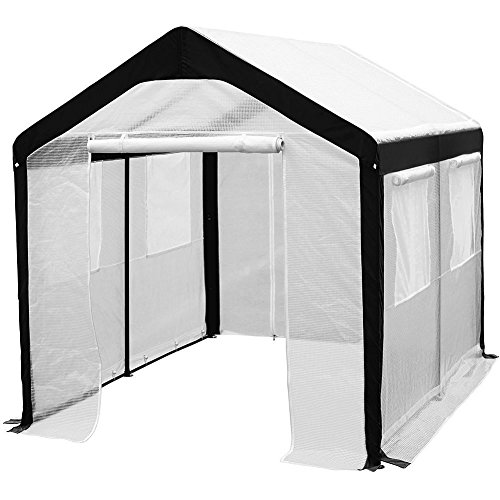 Abba-Patio-Cover-Canopy-Replacement-for-8-x-10-Feet-Large-Walk-in-Greenhouse-White-Frame-not-Include-0