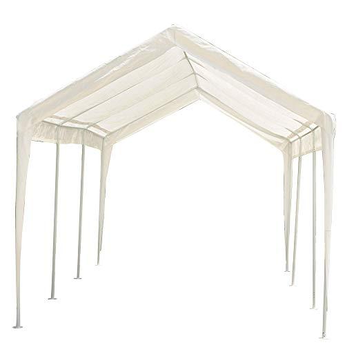 Abdone-Carport-10-x-20-Feet-Outdoor-Heavy-Duty-Car-Canopy-Shelter-8-Steel-Legs-Water-Resistant-White-0